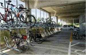 Portland TriMet's secure bike parking facility at Sunset Transit Center