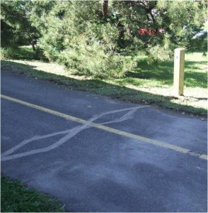 Custis Trail in-ground counter