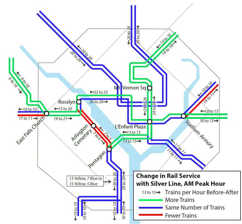 PlanItMetro  What Will Happen To The Rail Schedules With The - Washington dc silver line map