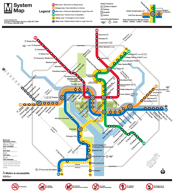 1 Subway Map.Planitmetro Updated Draft Silver Line Metrorail Map For Review