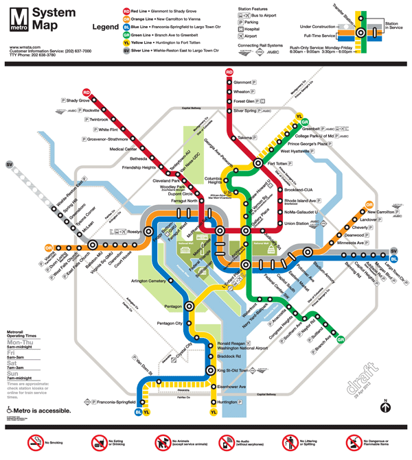 Subway Map Of Metro Dc.Planitmetro Updated Draft Silver Line Metrorail Map For Review