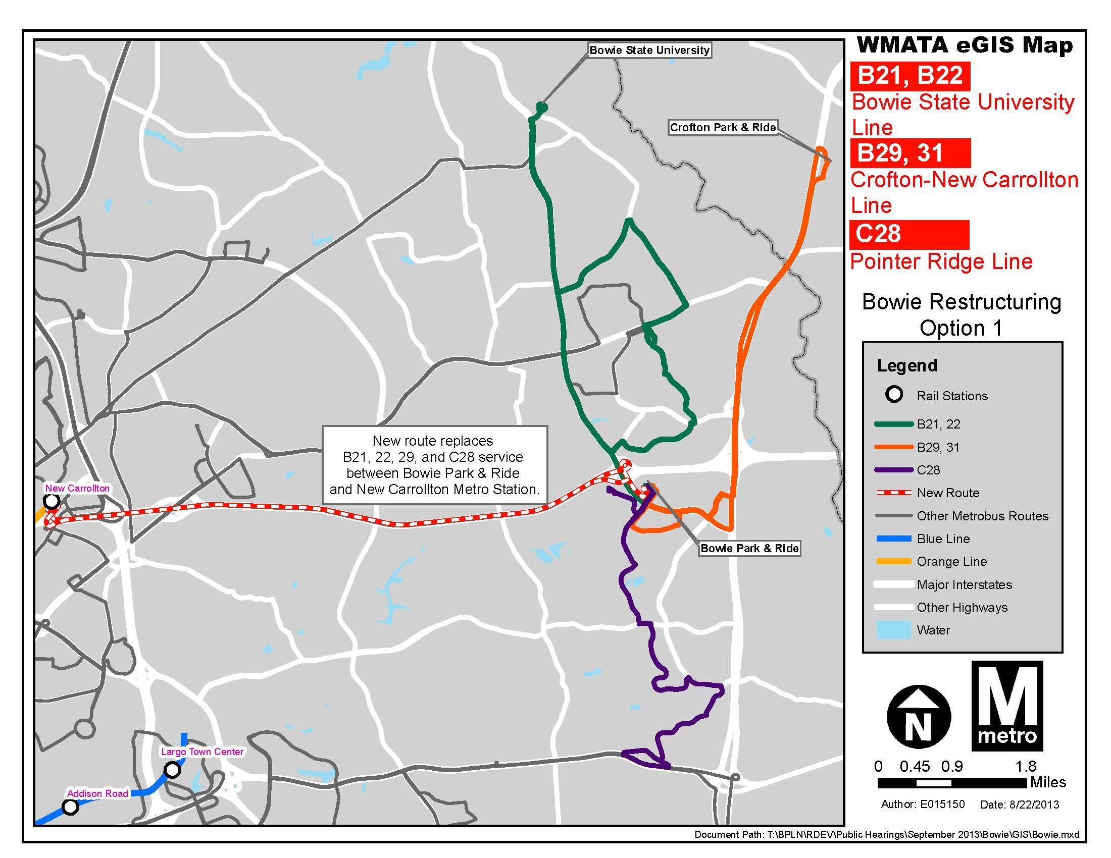 PlanItMetro Restructuring bus service in Bowie MD