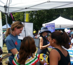 Metro Street Team administers survey to attendees at the Prince George's County Hispanic Festival