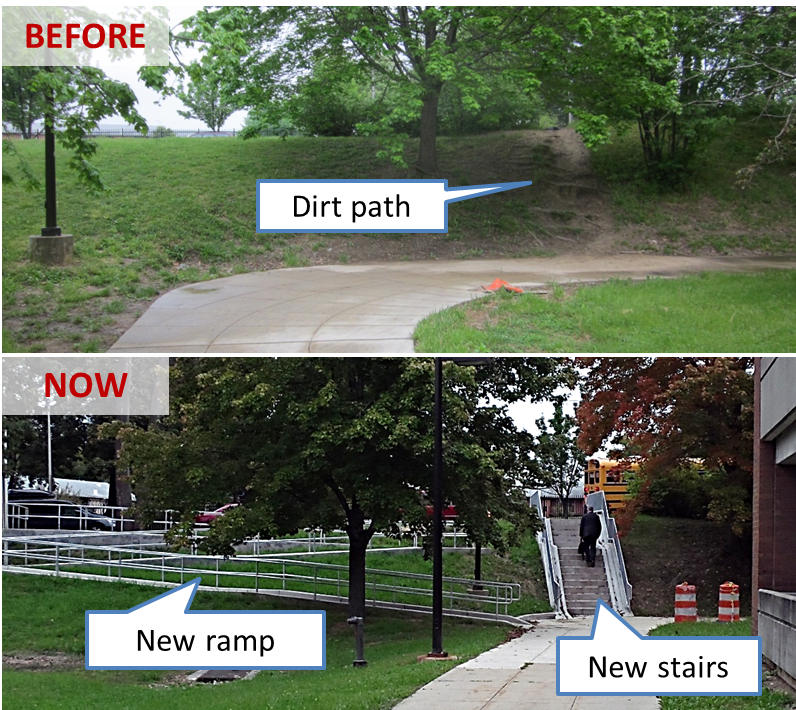 Glenmont E stairs beforeAfter