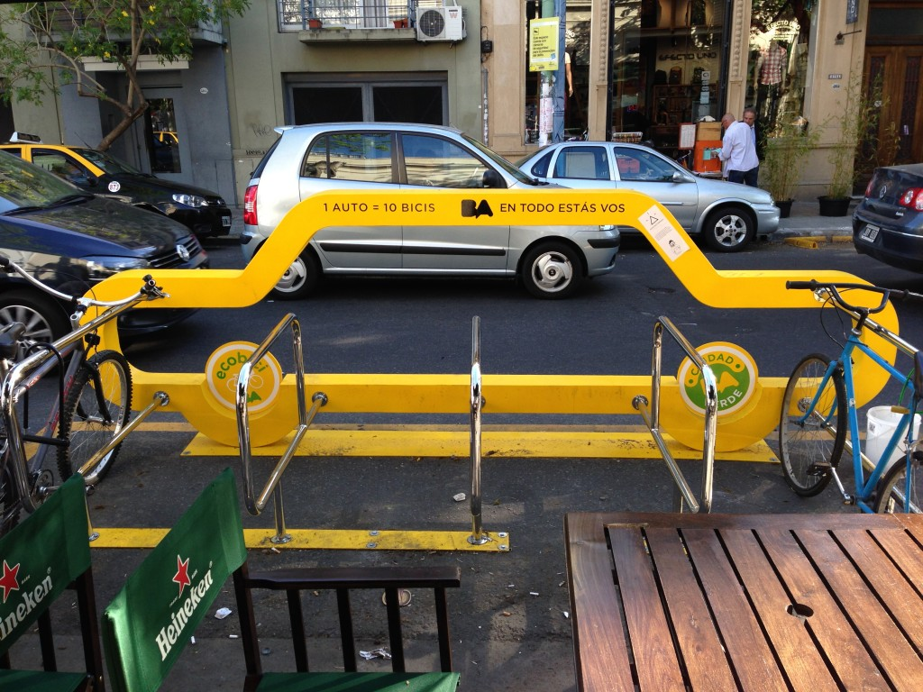 On-Street Bike Parking in Buenos Aires