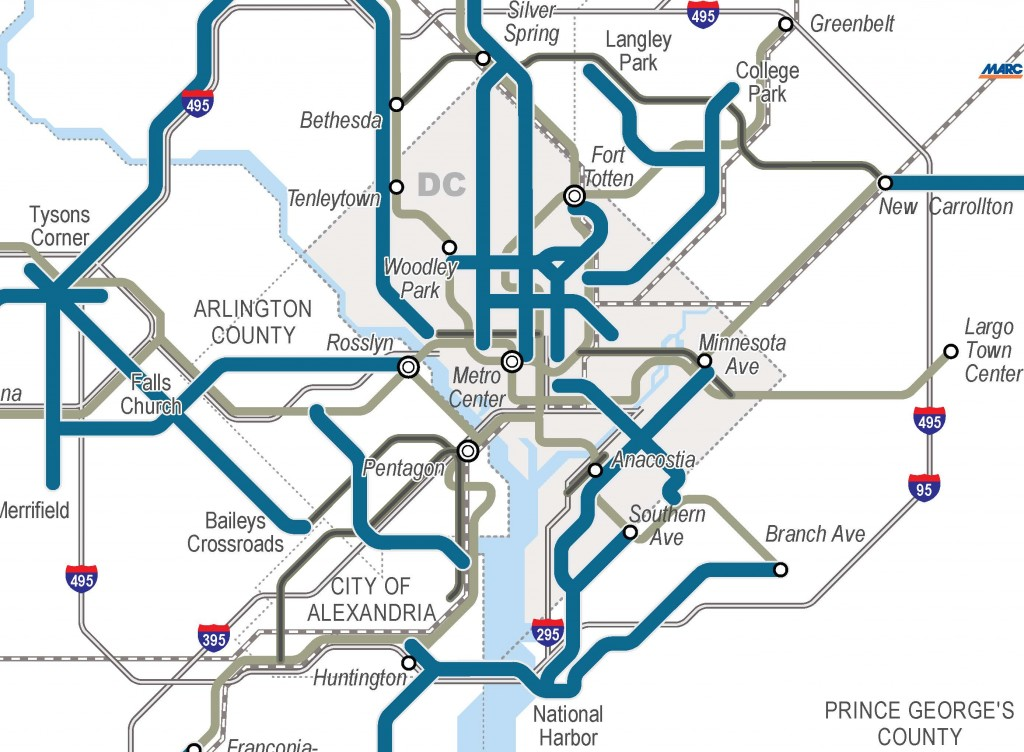 Regionally Significant High Capacity Surface Transit Corridors Inside the Beltway