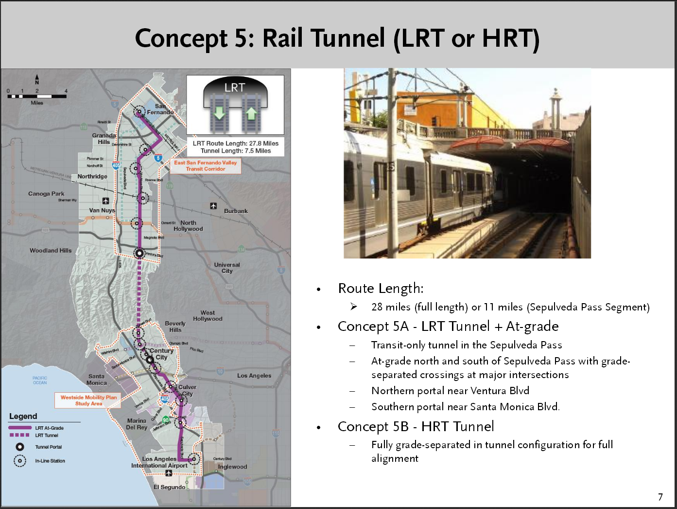 Sepulveda Pass Rail Transit Tunnel Alternative