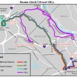 Routes 23A, 23B, 23T, 23C, 23W