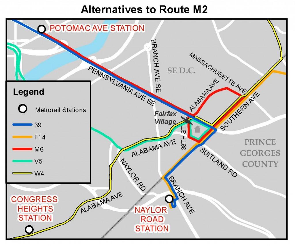 Route M2 Alternatives