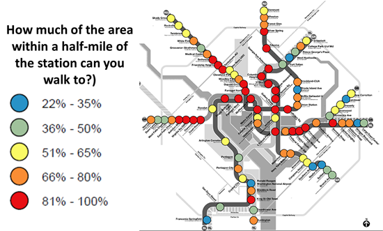How walkable are our region's Metrorail stations?