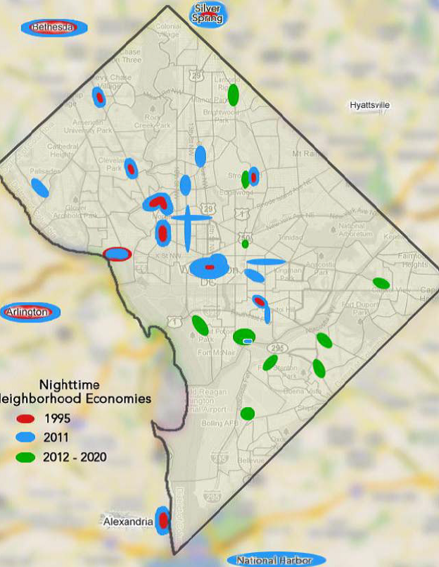 Nighttime Economy Summit Report Feb 3 2012 - Late Night Activity Centers Map