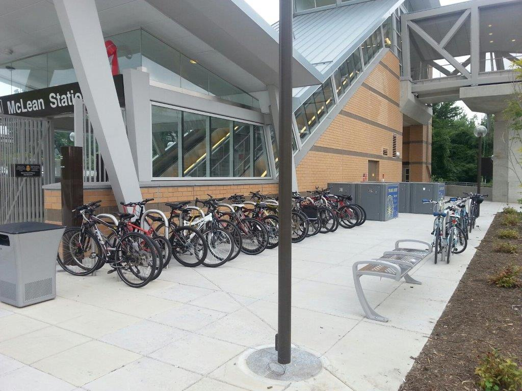 Bike Parking at McLean station on the Silver Line last Thursday.