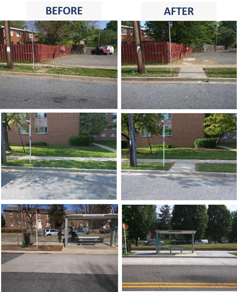 Fig2 - recent completed bus stop projects