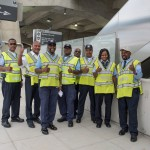 Metrobus operators readying for the opening