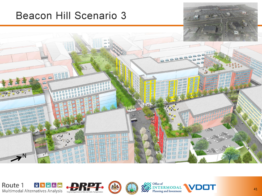 Beacon Hill Growth Scenario Visualization from Route 1 Study