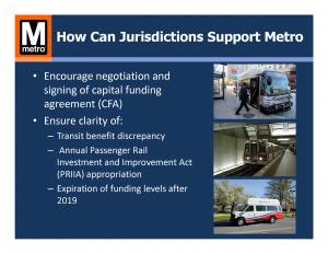 How Can Jurisdictions Support Metro: Funding