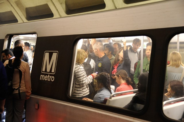 We've all been there. These tips will help you master train crowding and more. Image: WMATA