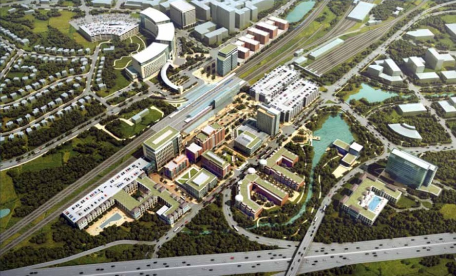 rendering of future development plan at New Carrollton